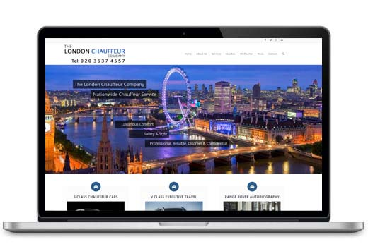 london-chauffeur website design